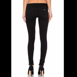 Hudson Collin Skinny Jeans in Black